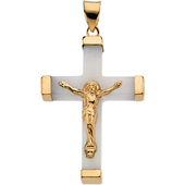 Real White Jade crucifix Pendant
