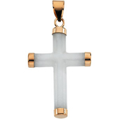 Real White Jade Cross Pendant