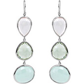 antique real chalcedony earrings