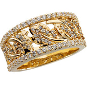 Gold Wedding Anniversary Leaf Design Etruscan Ring