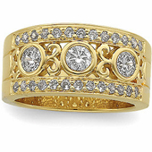 Gold Wedding Anniversary Etruscan Ring