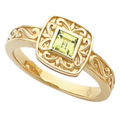 Wedding Anniversary Gold Etruscan Ring