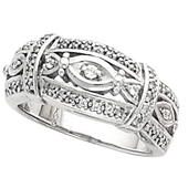 Wedding Anniversary White Gold Etruscan Band