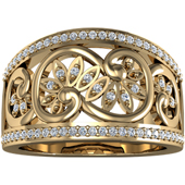 Wedding Anniversary Yellow Gold Etruscan Band