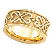 Wedding Anniversary Gold Etruscan Band