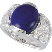 Antique Real Lapis Ring