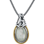 Real Mother of Pearl Gold Pendant