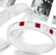 Stylish Ruby Engagement Ring