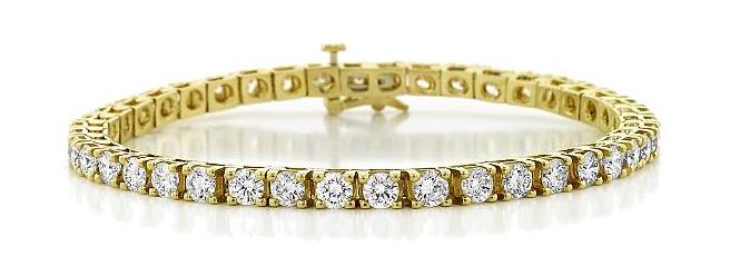 Yellow Gold Diamond Bracelets White Gold