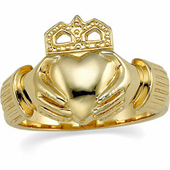 Claddagh Anniversary Ring. Available in Yellow Gold and White Gold
