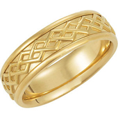 Celtic Anniversary Band. Available in Yellow Gold and White Gold