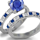 Sapphire Ring Designs, Antique Designs, Modern Designs, 3 Stone Ruby Ring, Tension Set Ring,