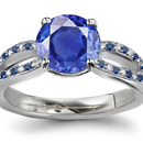 Thai Sapphire Ring with Diamonds