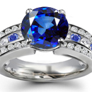 Burma Sapphire Ring with Diamonds