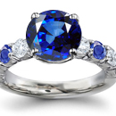 Ceylon Sapphire Ring with Diamonds