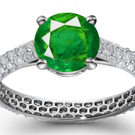 Emerald Ring Designs, Antique Designs, Modern Designs, 3 Stone Ruby Ring, Tension Set Ring,