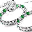 14K Yellow Gold Flush Setting Emerald Ring