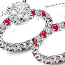 Ruby Birthstone Ring with Diamonds