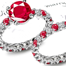Cameo Ruby Ring with Diamonds