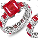 Alpha Omega Christian Ruby Ring