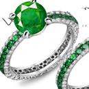 Zambian Emerald Ring with Diamonds