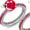18k Red Gold Invisible Ruby Ring Setting