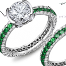 Sandawana Emerald Ring with Diamonds