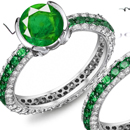 Brazalian Emerald Ring with Diamonds
