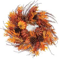 shop decorative spring summer winter christmas easter holiday fall wreaths for designer home decor view here new floralberryleaf wreath for - Decorative Wreaths
