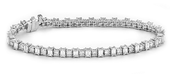 Princess Cut Diamond Bracelets White Gold Diamond Bracelet