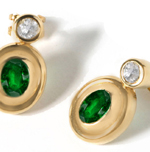 Diamond & Emerald Earrings