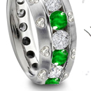 This emerald diamond eternity ring was all I expected, and more. GREAT JOB! Hillary from New York
