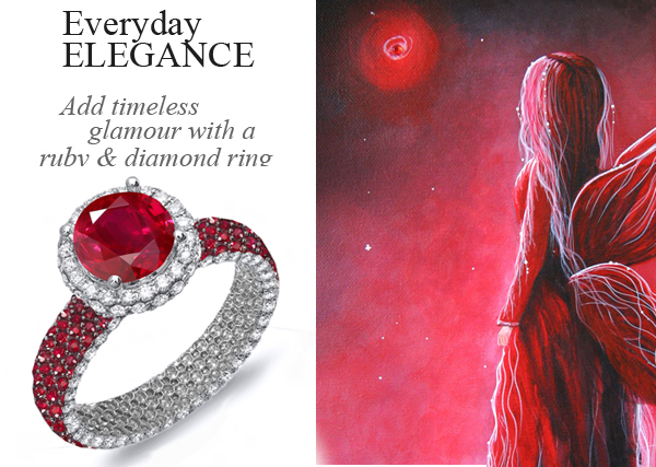 Add Sentimental Value  to Your Personalized Engagement Ring with Ruby Birthstones