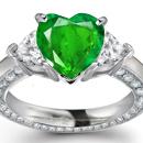 A diamond ribbon wraps around a round brilliant on an ultra-feminine dior ring