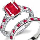 Crimson Red Estate Ruby Jewelry, Antique Ruby Rings
