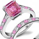 10k Beautifull White GF Women Sapphire Ring S 7 .5