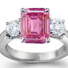 Fine Pink Sapphire Diamond Rings at lowest prices!