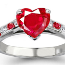 Ruby Rings with Diamonds