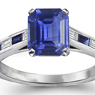 GIA Estate 6.04 ct UNHEATED Blue Sapphire Diamond 14k White Gold Engagement Ring