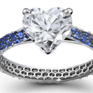 A marquise is set as a grand horizontal in a Fred Leighton pave-set diamond ring