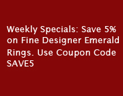 Weekly Specials -Designer Emerald Rings Coupons