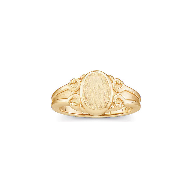 Fine Polished 14k Yellow, White, Blue, Rose Gold Mens Signet Rings