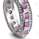 Pink Sapphire Diamond Rings Reviews