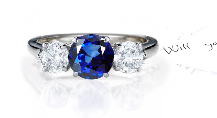 SIMPLE & BEAUTIFULLY CREATED SAPPHIRE & DIAMOND RING