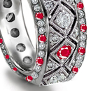 ruby eternity rings are your unique expressions of eternal love
