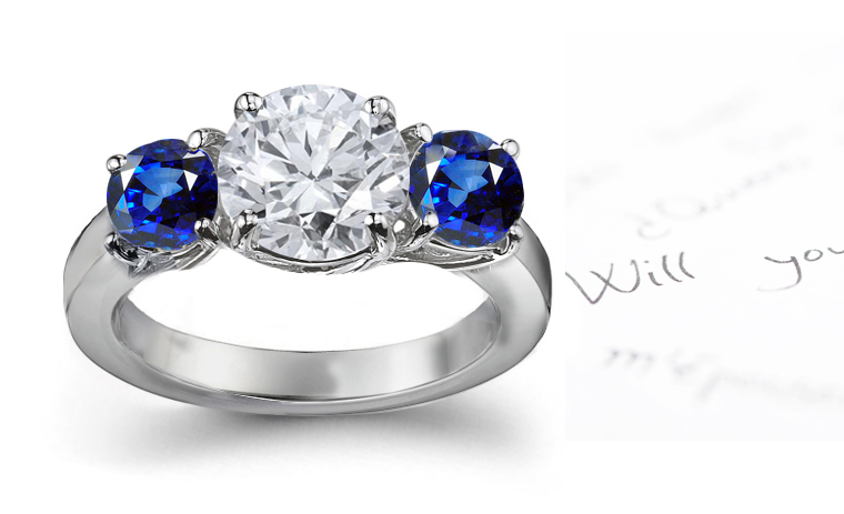 Create Enement Rings | Ring Styles Beautifully Created Sapphire Diamond Ring