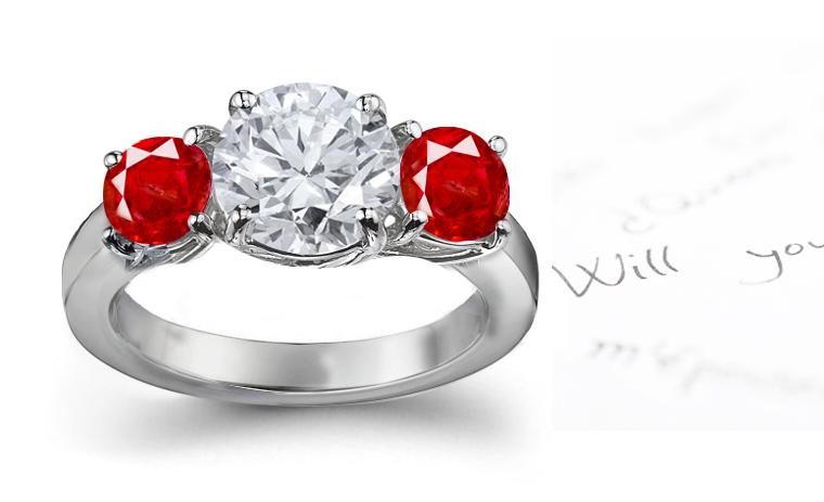 Ring styles beautiful diamonds ruby diamond ring for Wedding rings with rubies and diamonds