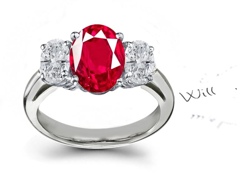 Ruby Education Diamond Rings Anniversary Ring