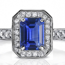 Sapphire & Diamond Ring Marquise 10K White Gold $280 Appraisal