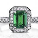 Round Emerald Full Eternity Ring